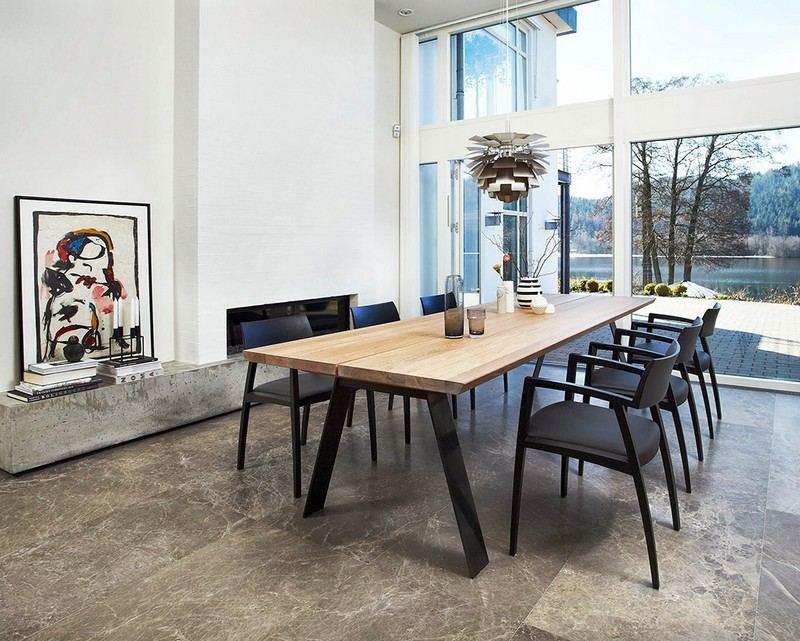 Table de salle a manger style nordique - infini photo