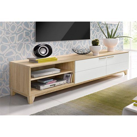 ensemble meuble tv scandinave infini photo. Black Bedroom Furniture Sets. Home Design Ideas