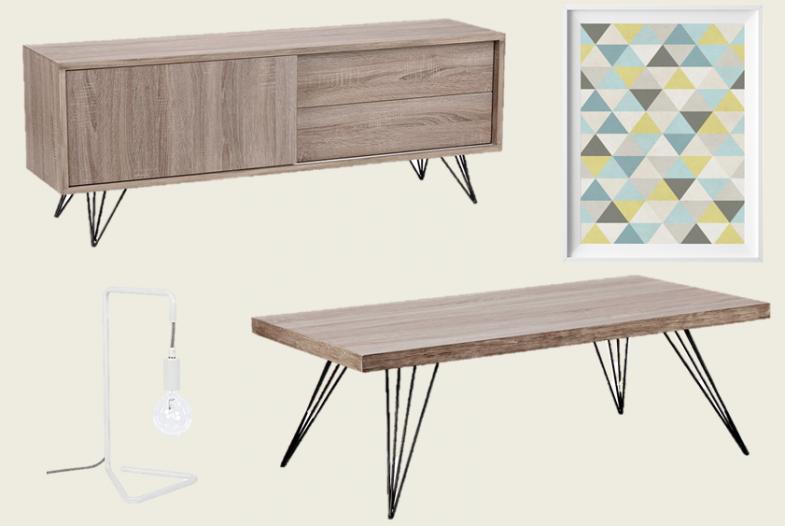 meuble tv scandinave jaune. Black Bedroom Furniture Sets. Home Design Ideas