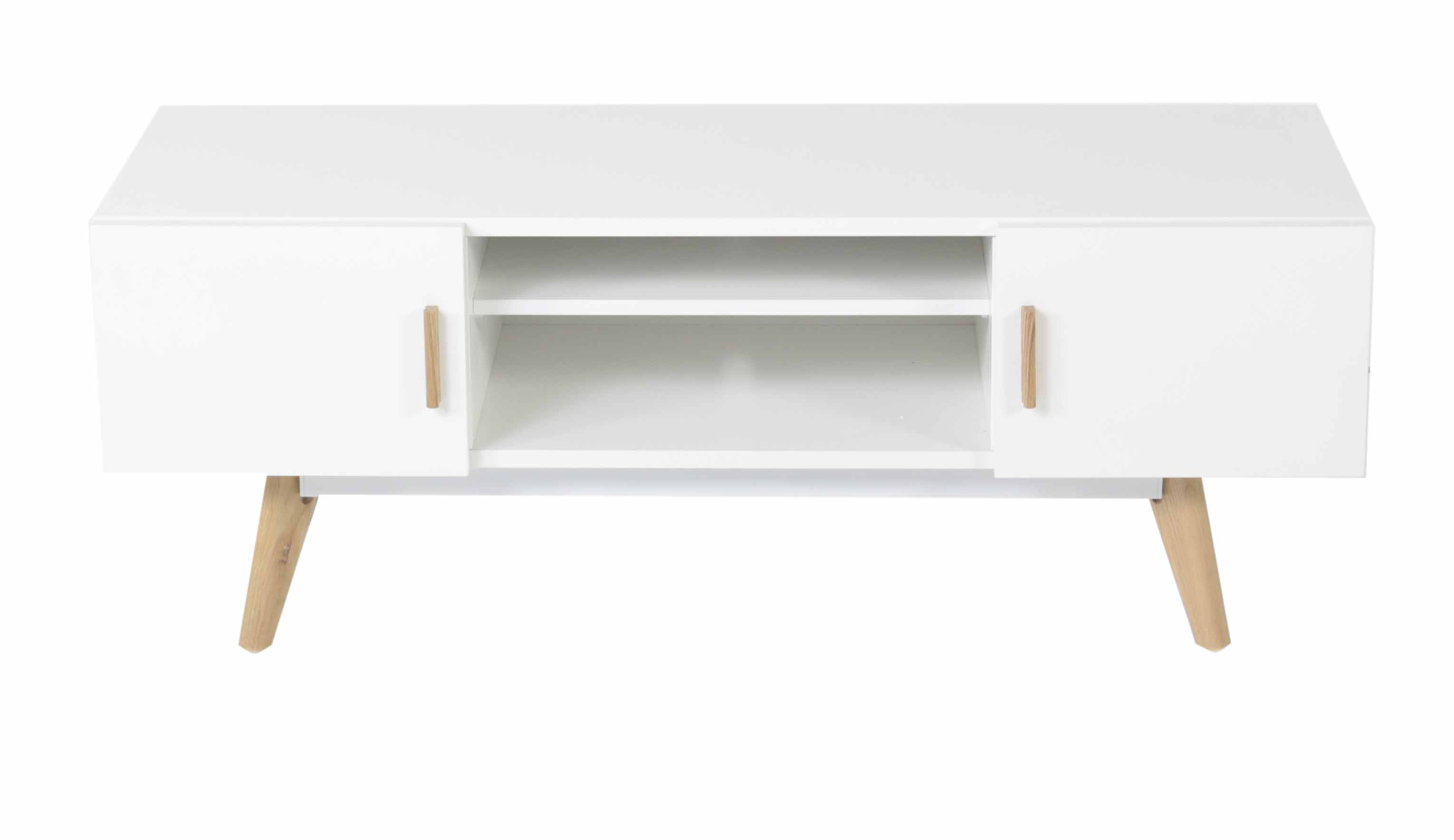 Meuble Tv Scandinave Blanc - Scandinave Meuble Tv Infini Photo[mjhdah]http://www.altahomedeco.fr/13231/meuble-tv-blanc-et-chene-simla.jpg