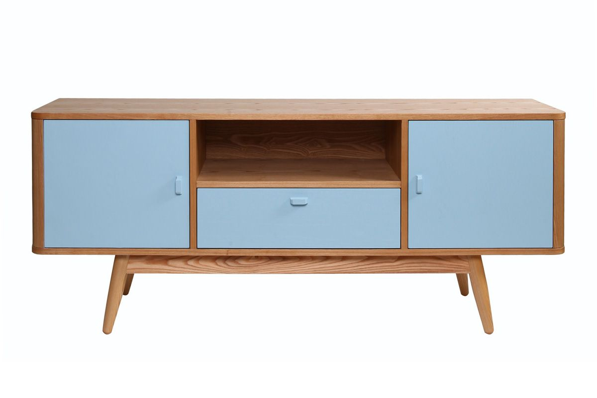 Meuble Scandinave Bleu Infini Photo # Meuble Tv Frene