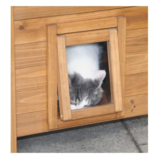 Chatiere en bois pour chat infini photo - Chatiere electronique pour chat ...
