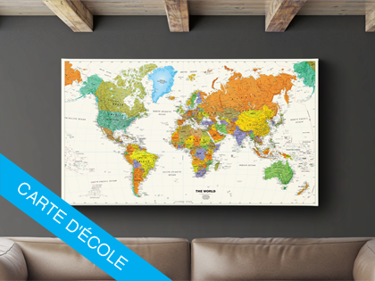 Carte du monde à piquer   infini photo