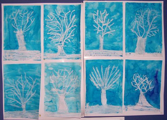 Arts plastiques hiver infini photo for Art plastique peinture