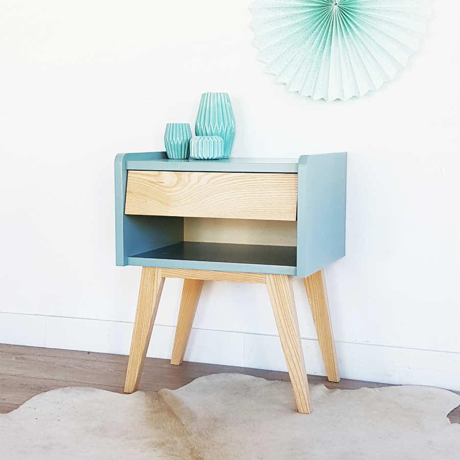 table de chevet style scandinave infini photo. Black Bedroom Furniture Sets. Home Design Ideas