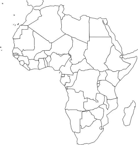 Fond De Carte Bresil Vierge Bac.Afri Carte Vierge Des Pays Sicilfly
